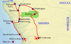 Map-Northern namibia